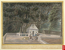 220px-A_small_temple_beneath_the_Bodhi_tree,_Bodh_Gaya,_c__1810